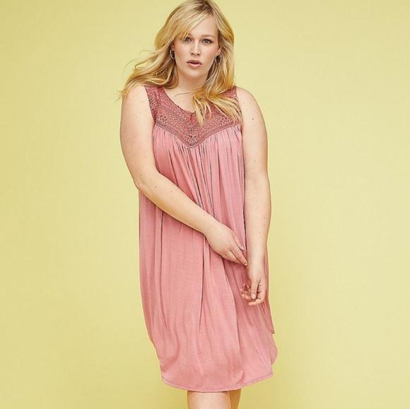 f59d106dc764b5 Lane Bryant Dresses   Nwt Plus Size Crochet Swing Dress   Poshmark